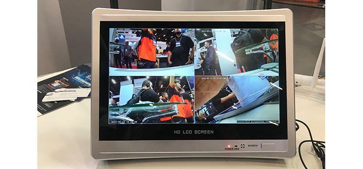 sistema de câmeras de segurança.